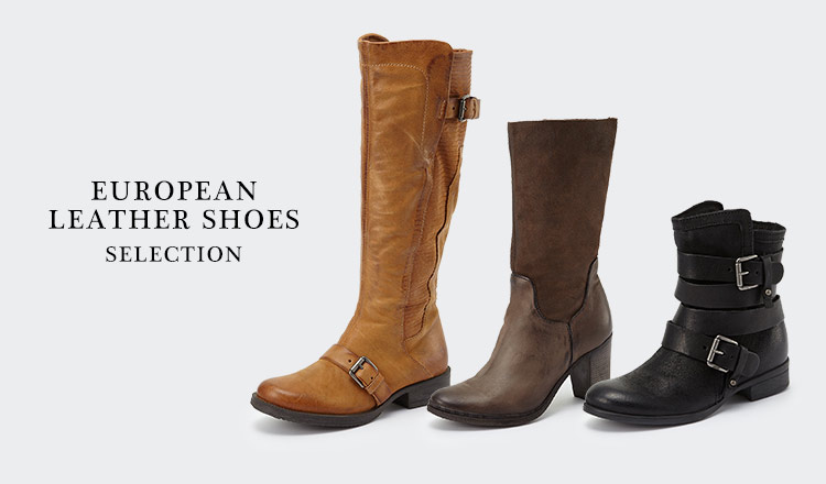 EUROPEAN LEATHER SHOES SELECTION