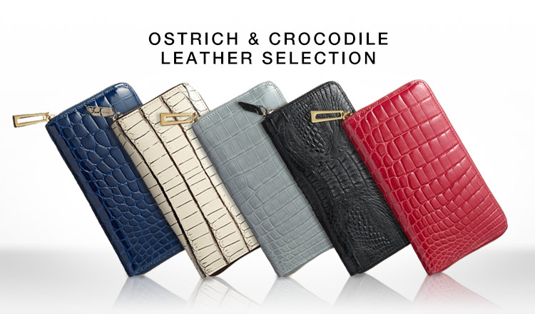 OSTRICH & CROCODILE LEATHER SELECTION