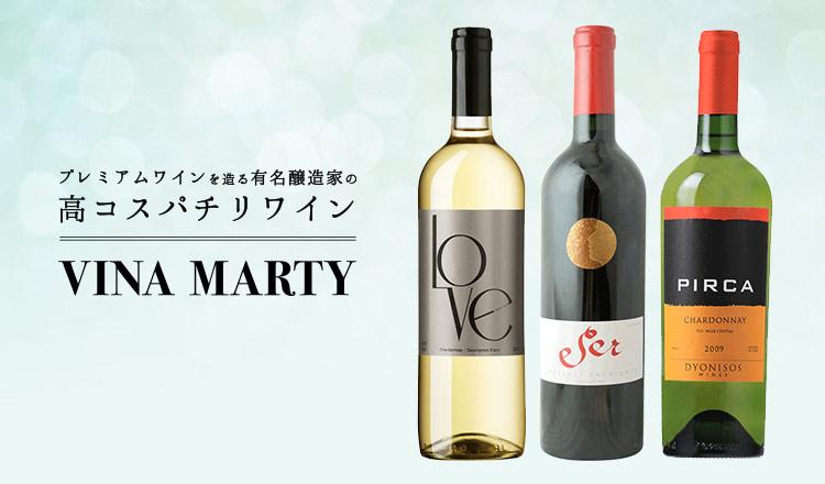 プレミアムワインを造る有名醸造家の高コスパチリワイン VINA MARTY