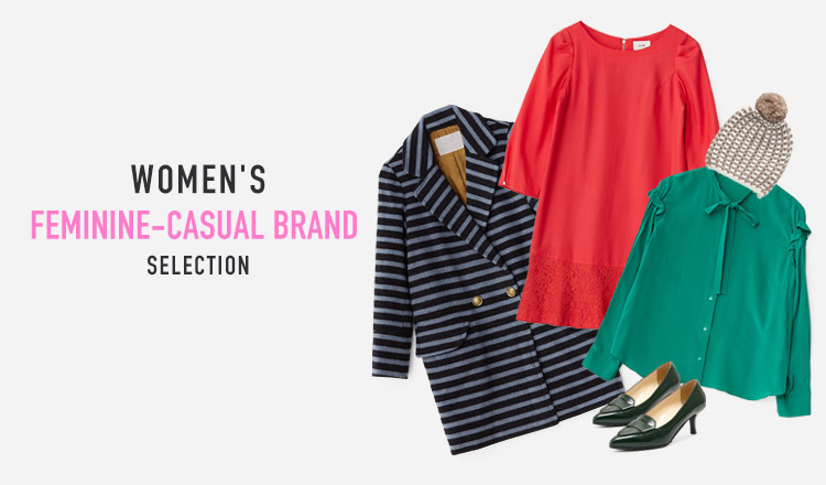 WOMEN'S FEMININE-CASUAL BRAND SELECTION