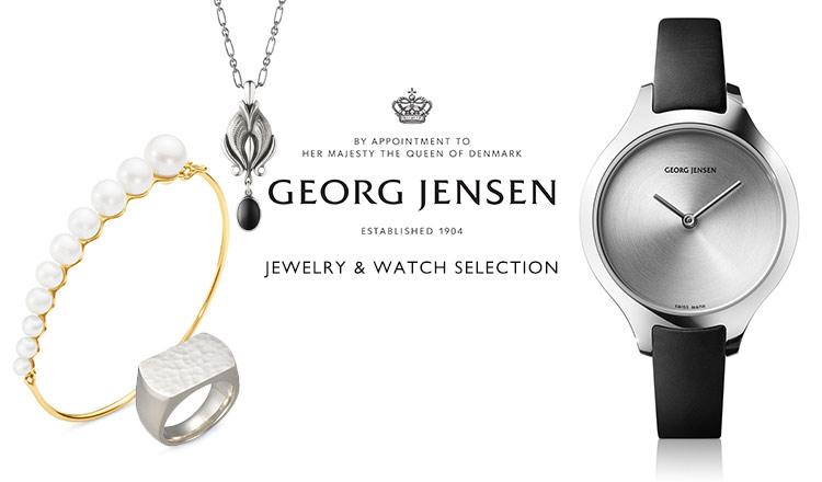 GEORG JENSEN JEWELRY & WATCH SELECTION