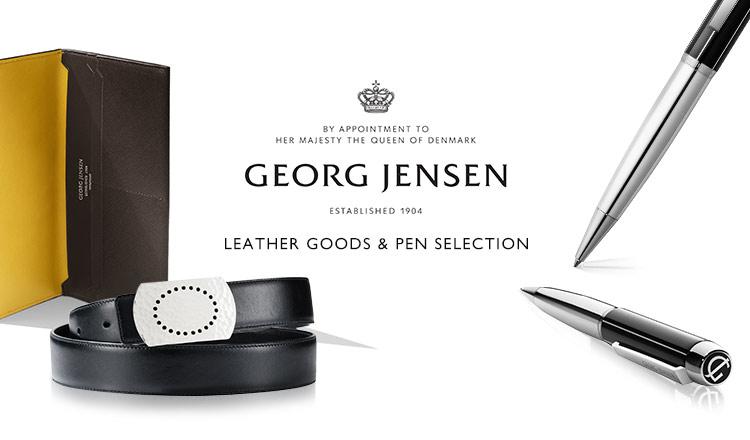 GEORG JENSEN LEATHER GOODS & PEN SELECTION