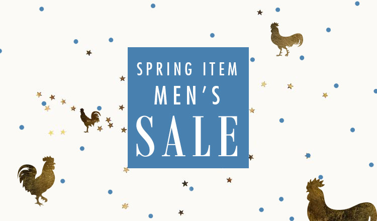 SPRING ITEM 先行 SALE APPAREL MEN