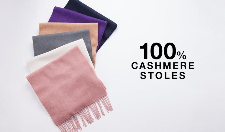 100% CASHMERE STOLES