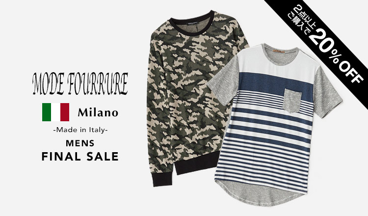 MODE FOURRURE -Made in Italy- MENS FINAL SALE