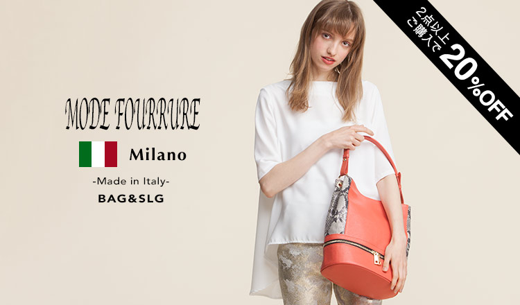 MODE FOURRURE -Made in Italy- BAG & SLG