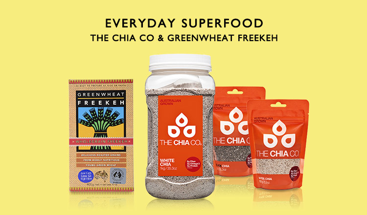 EVERYDAY SUPERFOOD -THE CHIA CO & GREENWHEAT FREEKEH-