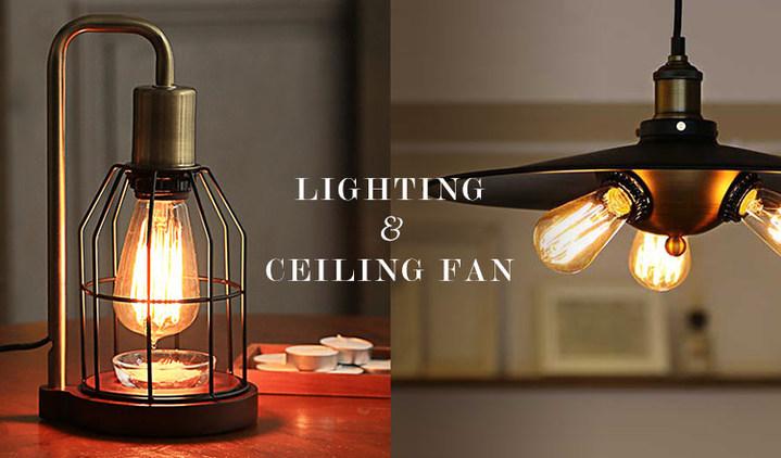 LIGHTING & CEILING FAN
