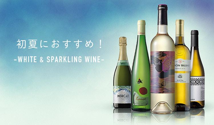 初夏におすすめ!-WHITE & SPARKLING WINE-