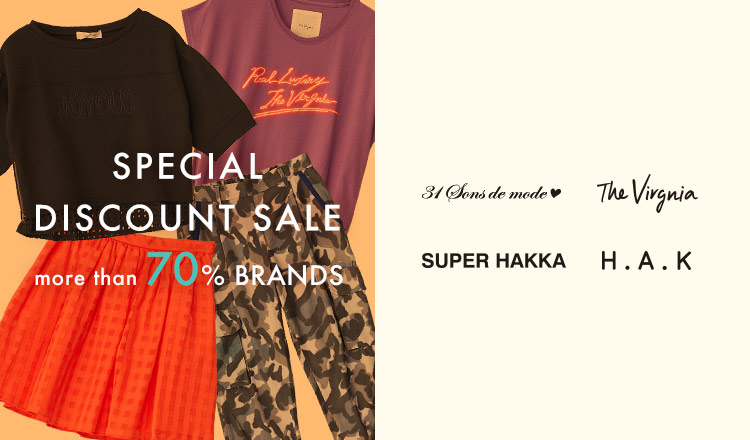 SPECIAL DISCOUNT SALE MORE THAN 70% BRANDS