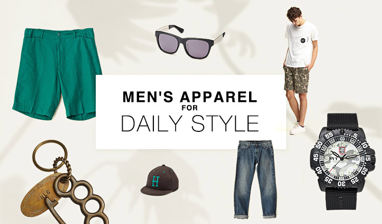 MEN'S APPAREL-for DAILY STYLE-