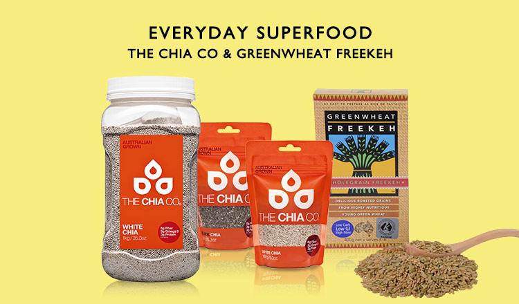 EVERYDAY SUPERFOOD -THE CHIA CO & GREENWHEAT FREEKEH-