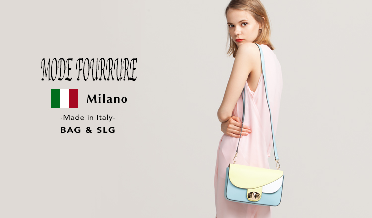 MODE FOURRURE -Made in Italy- BAG&SLG