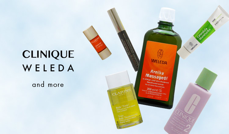 CLINIQUE,WELEDA and more