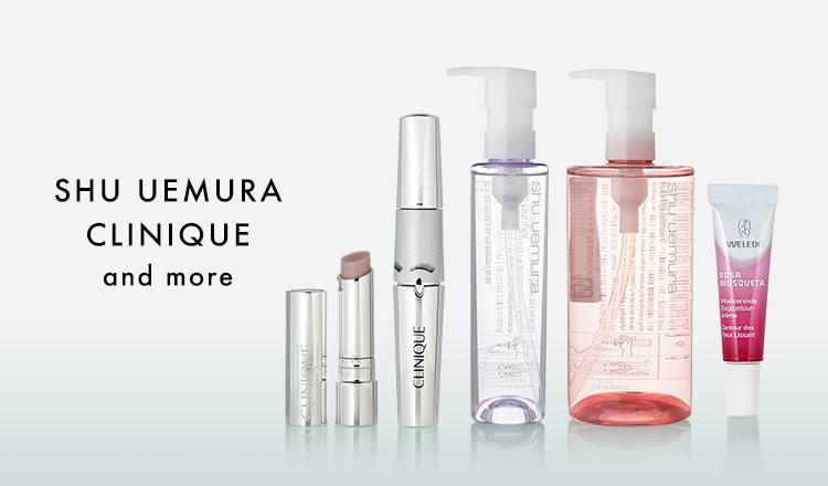 SHU UEMURA/CLINIQUE and more