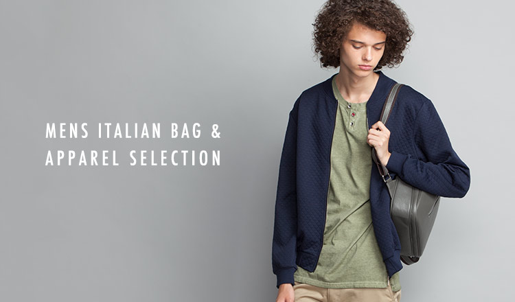 MENS ITALIAN BAG & APPAREL SELECTION