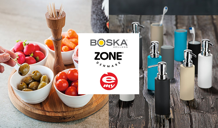 IMPORT HOME & KITCHEN WARE SELECTION BY BOSKA/ZONE