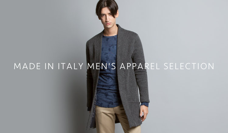 MADE IN ITALY MEN'S APPAREL SELECTION