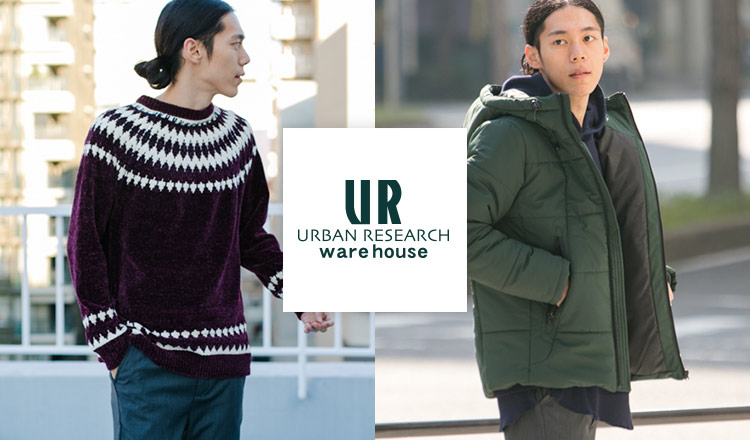 URBAN RESEARCH WAREHOUSE MEN OUTER & KNIT