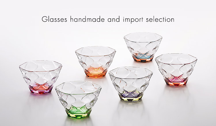 Glasses handmade and import selection