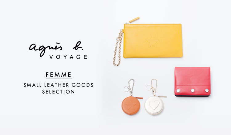 AGNES B.VOYAGE FEMME SMALL LEATHER GOODS SELECTION