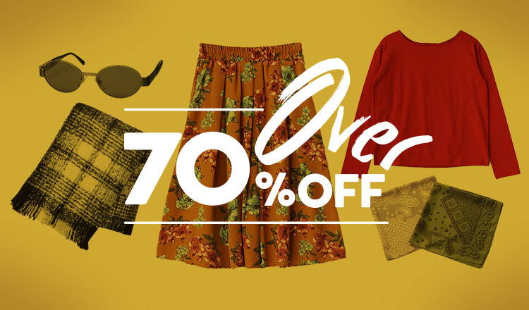 OVER 70%OFF