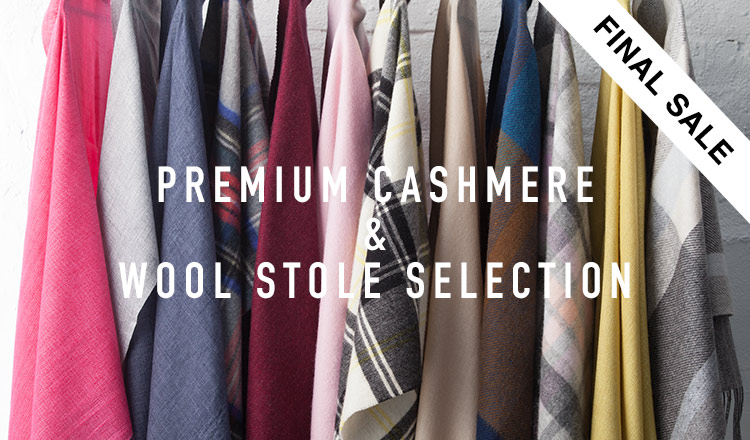 PREMIUM CASHMERE & WOOL STOLE SELECTION