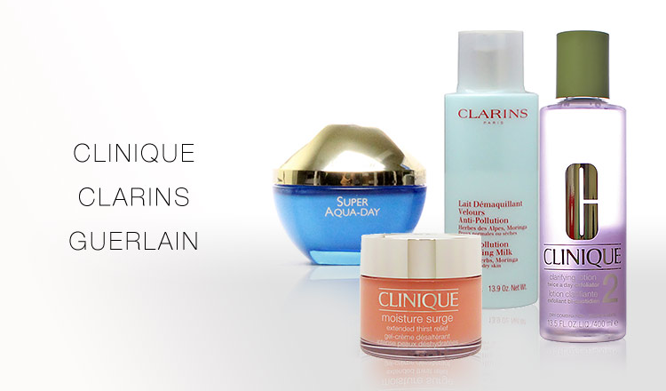 CLINIQUE/CLARINS/GUERLAIN