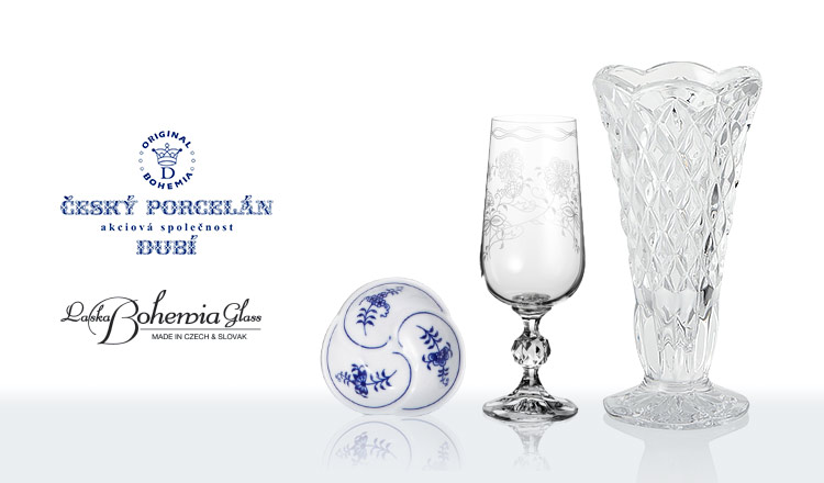 BOHEMIA BLUE ONION/BOHEMIA GLASS