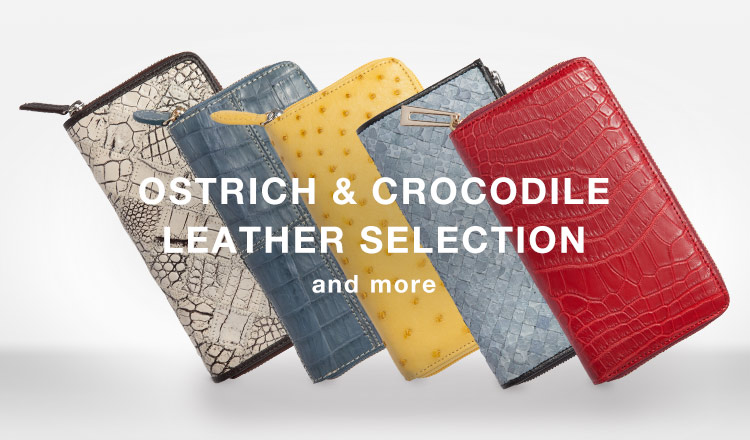 OSTRICH & CROCODILE LEATHER SELECTION and more