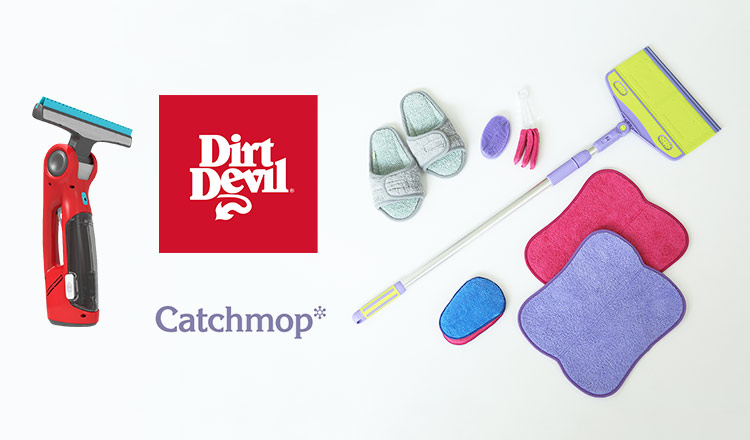 短時間で楽々お掃除 DIRT DEVIL&CATCH MOP