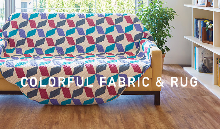 COLORFUL FABRIC & RUG