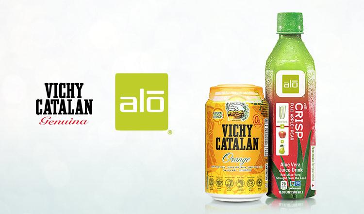 大人気のアロエ入りナチュラルドリンク ALO/美と健康の天然発泡水 VICHY CATALAN