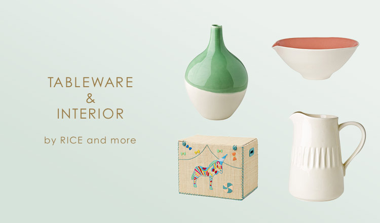 TABLEWARE & INTERIOR BY RICE &more