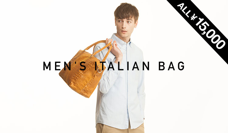 MEN'S ITALIAN BAG -ALL ¥15,000