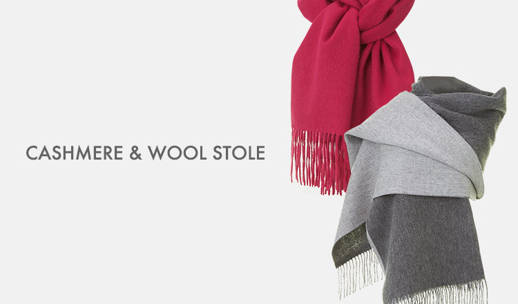 CASHMERE & WOOL STOLE(カシミア & ウールストール)
